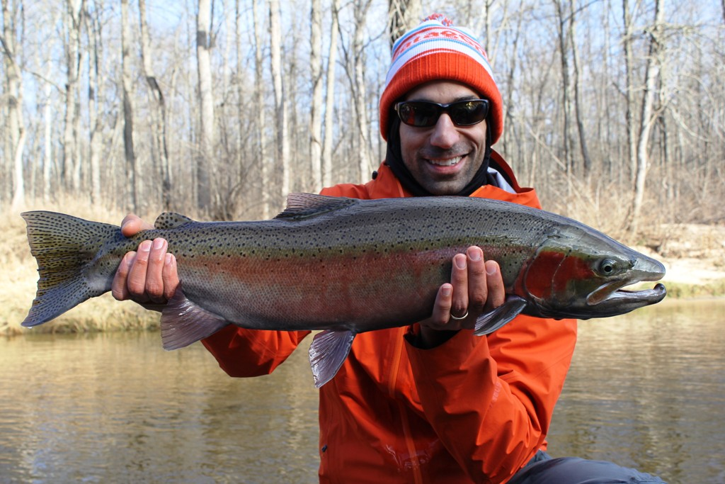 Muskegon river fishing report december 8 2014 for West michigan fishing report