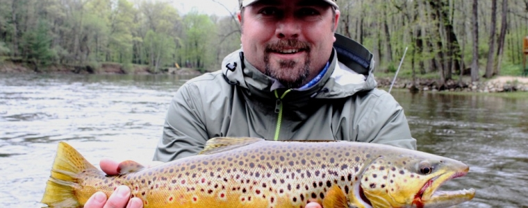 Streamer fishing for Muskegon river trout