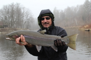 Mitch, also from west MI, with a nice male steelhead that took us for quite a ride before coming to net.
