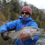 Nathan, from west MI, with a dandy Muskegon river steelhead.